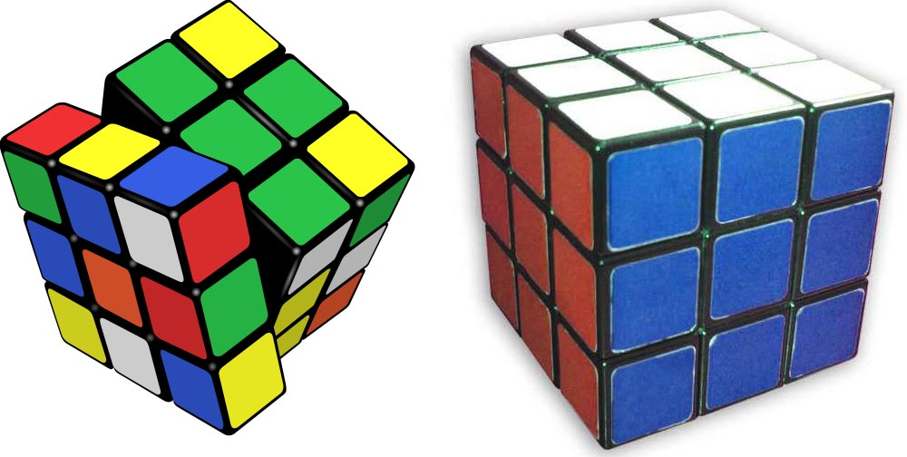 Rubil's Cube: solved and unsolved